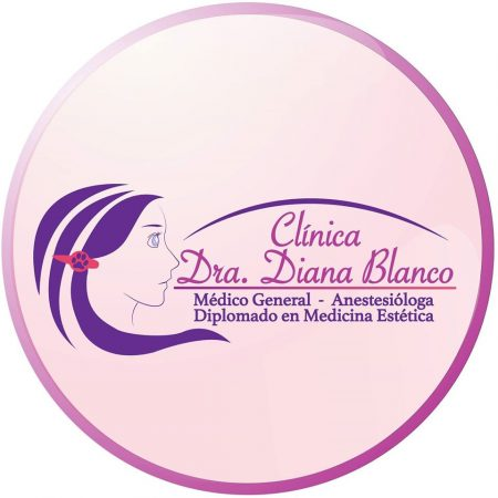 logotipo clinica diana blanco